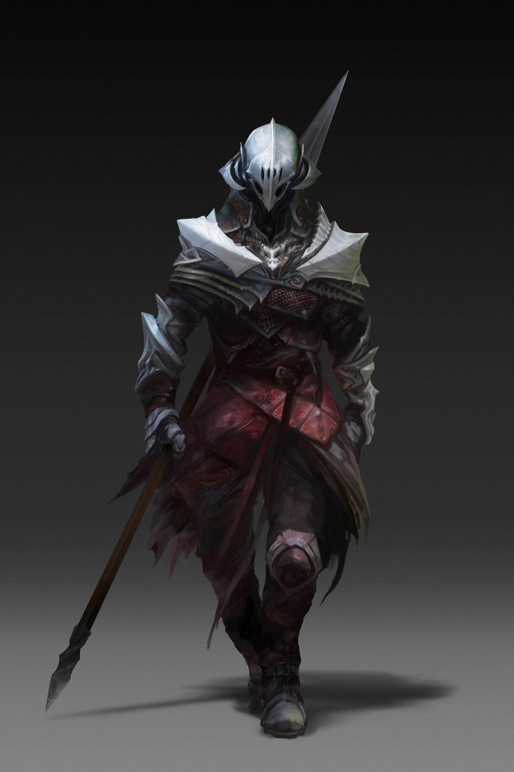 ArtStation - Knights -Gargoyle-, IL Kim | Fantasy art ...