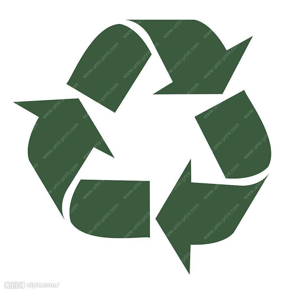 Home Goods Logo Go Green Recycled Logo Temporary Tattoo Sticker