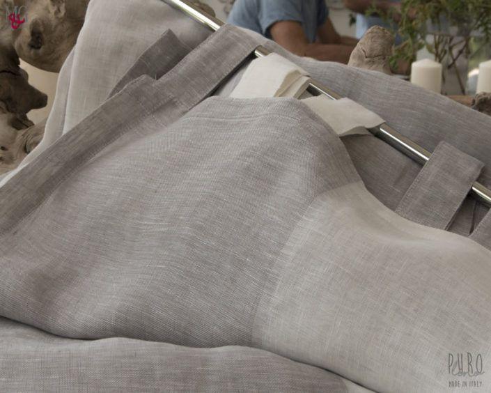Tende camera da letto TENDE a righe verticali puro lino ...