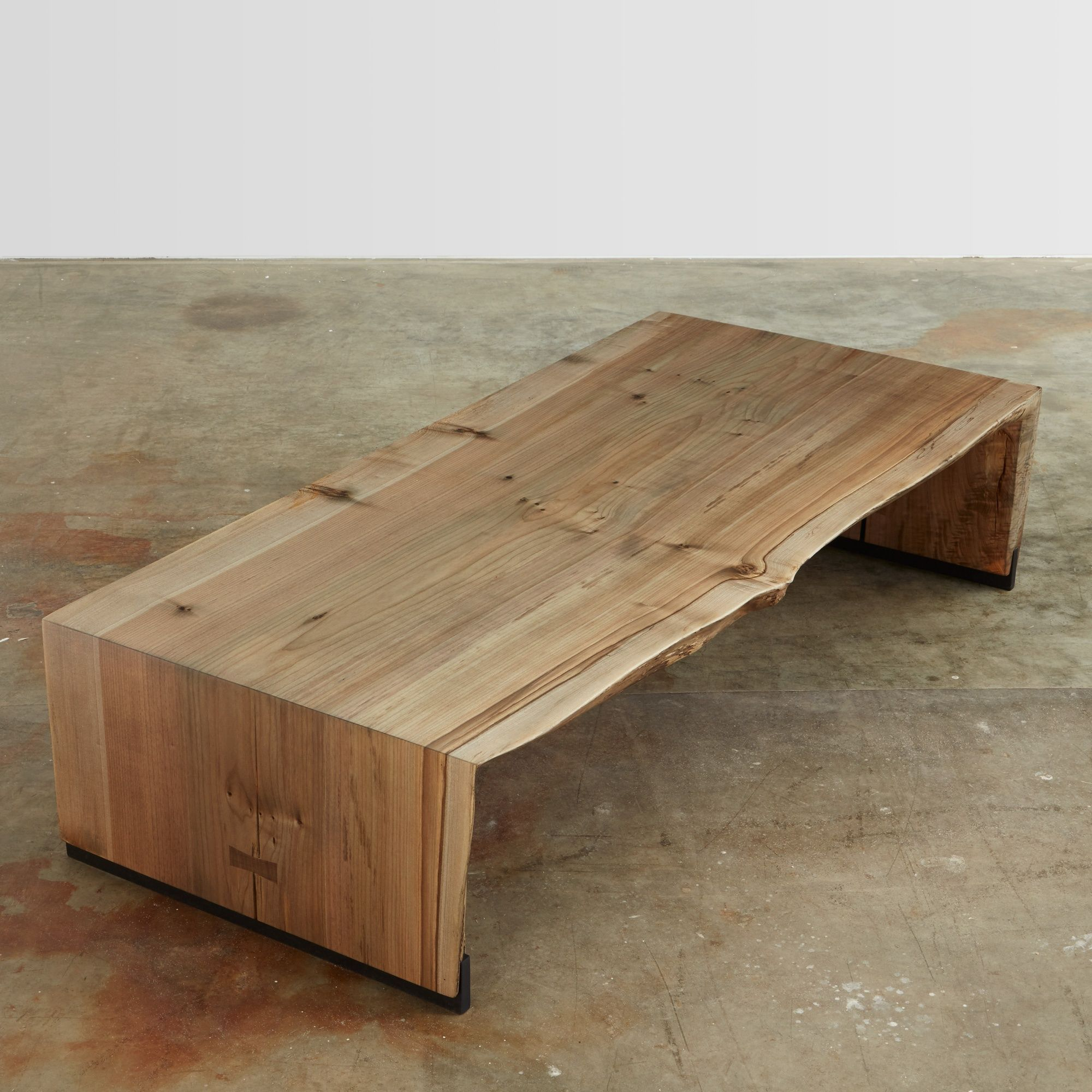 Urban hardwoods ebonized maple bi fold coffee table