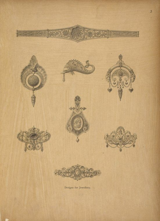 One Of Hundreds Of Thousands Of Free Digital Items From The New York Public Library Jewelry Drawing Antique Jewellery Designs Jewelry Design Drawing
