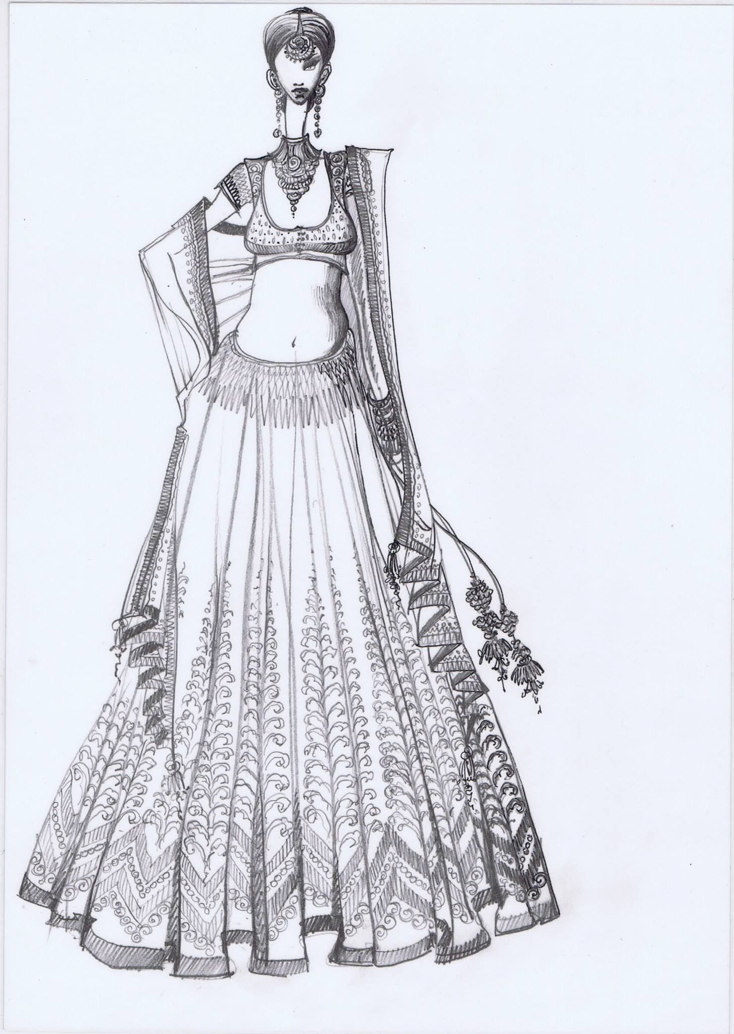 Mohho By A N Fashion Illustration Dresses Dress Sketches Fashion Design Drawings