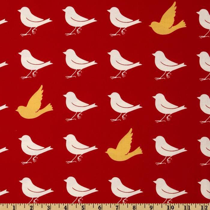 RED - Moda Oh Deer! Sparrow Cherry
