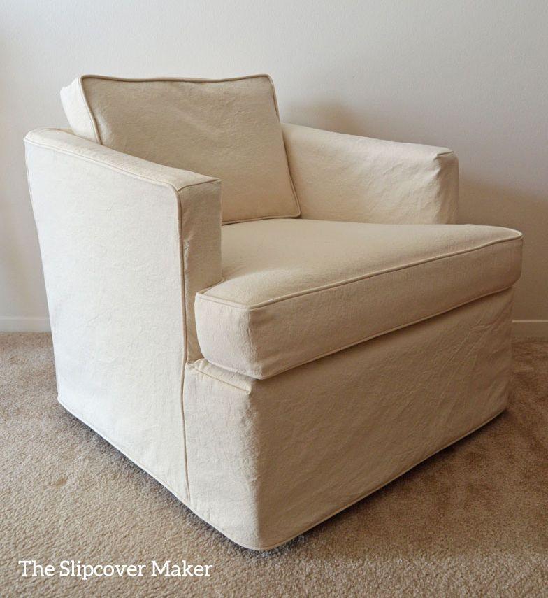 Canvas Slipcover For 70's Henredon Chair