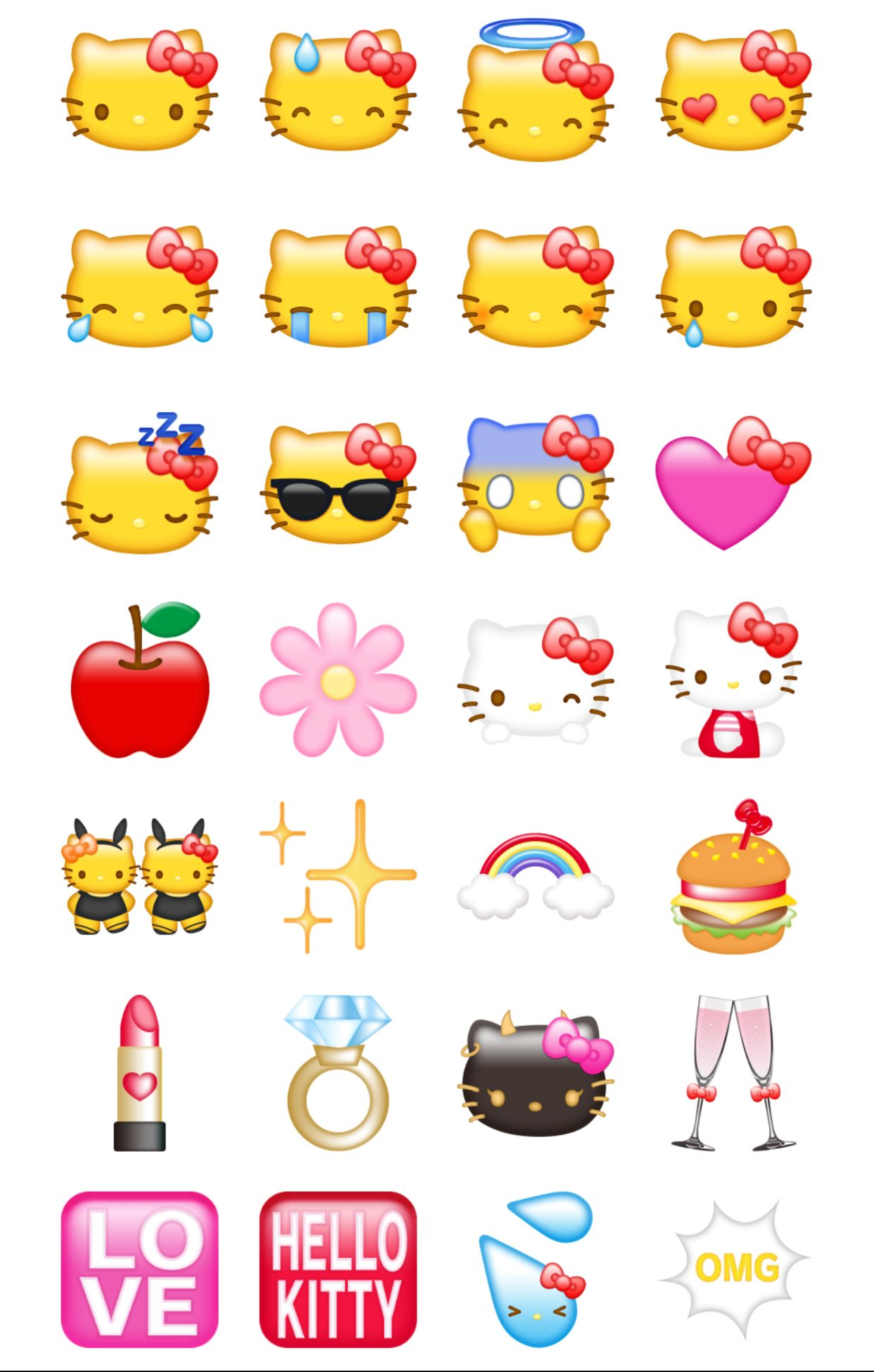 emoticons hello kitty