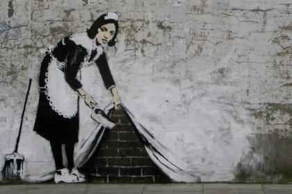 Banksy Graffiti Street Art Wallpaper