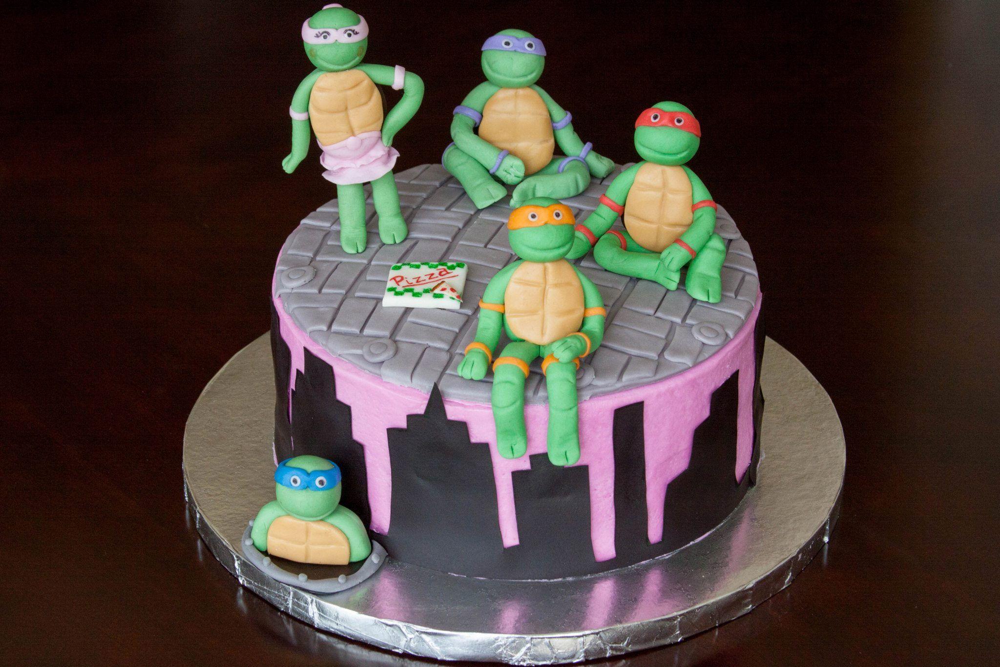 Teenage Mutant Ninja Turtle Girl Cake By Lauraloucakes