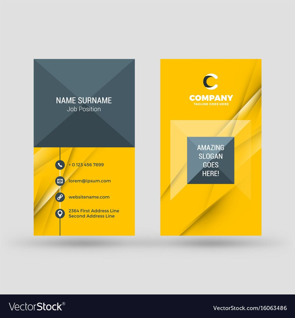 Vertical Double Sided Business Card Template With Double Sided Business Card Template Illustra Double Sided Business Cards Card Template Business Card Template