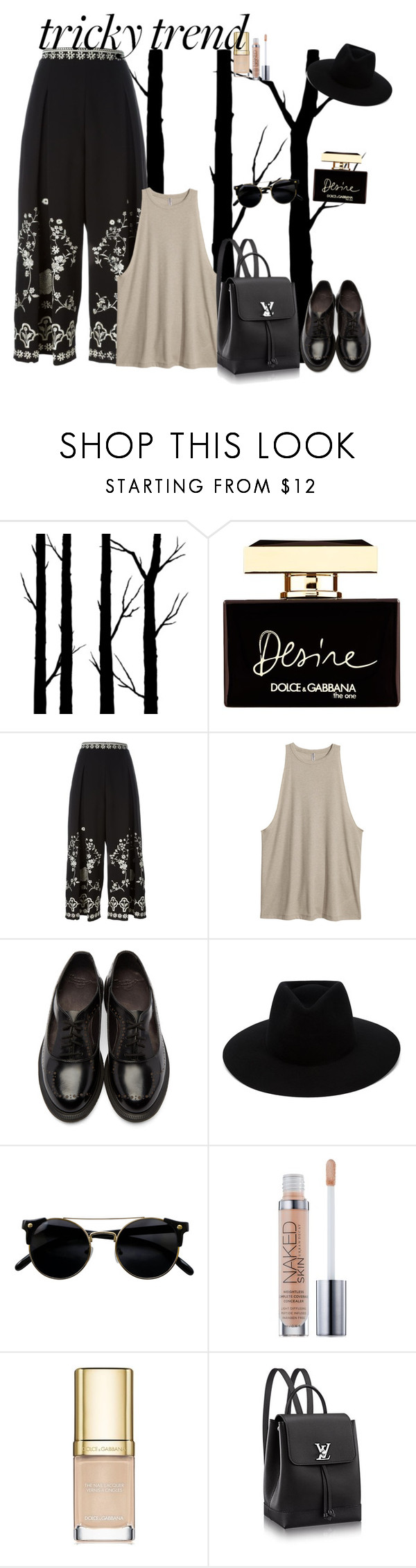 """""""#Culottes"""" by pineapple205 ❤ liked on Polyvore featuring Dot & Bo, Dolce&Gabbana, Temperley London, Dr. Martens, rag & bone and Urban Decay"""