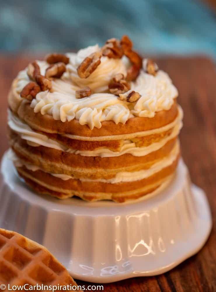WOW! This Italian Cream Chaffle Cake is FANTASTIC!