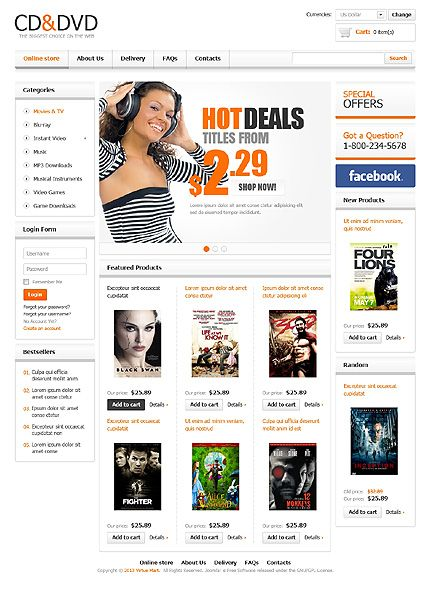 Cd Dvd Virtuemart Template Website Http Www Templatemonster