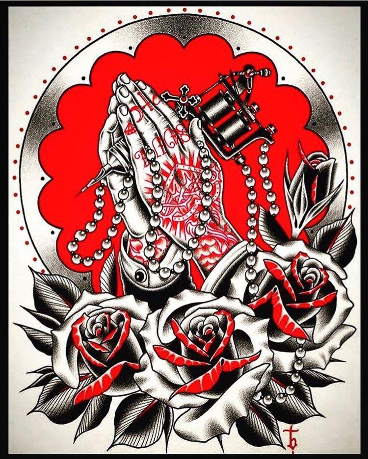 Traditional Praying Hands Tattoo Black And Gray: Пин от пользователя Silverstein TV TV на доске Trad
