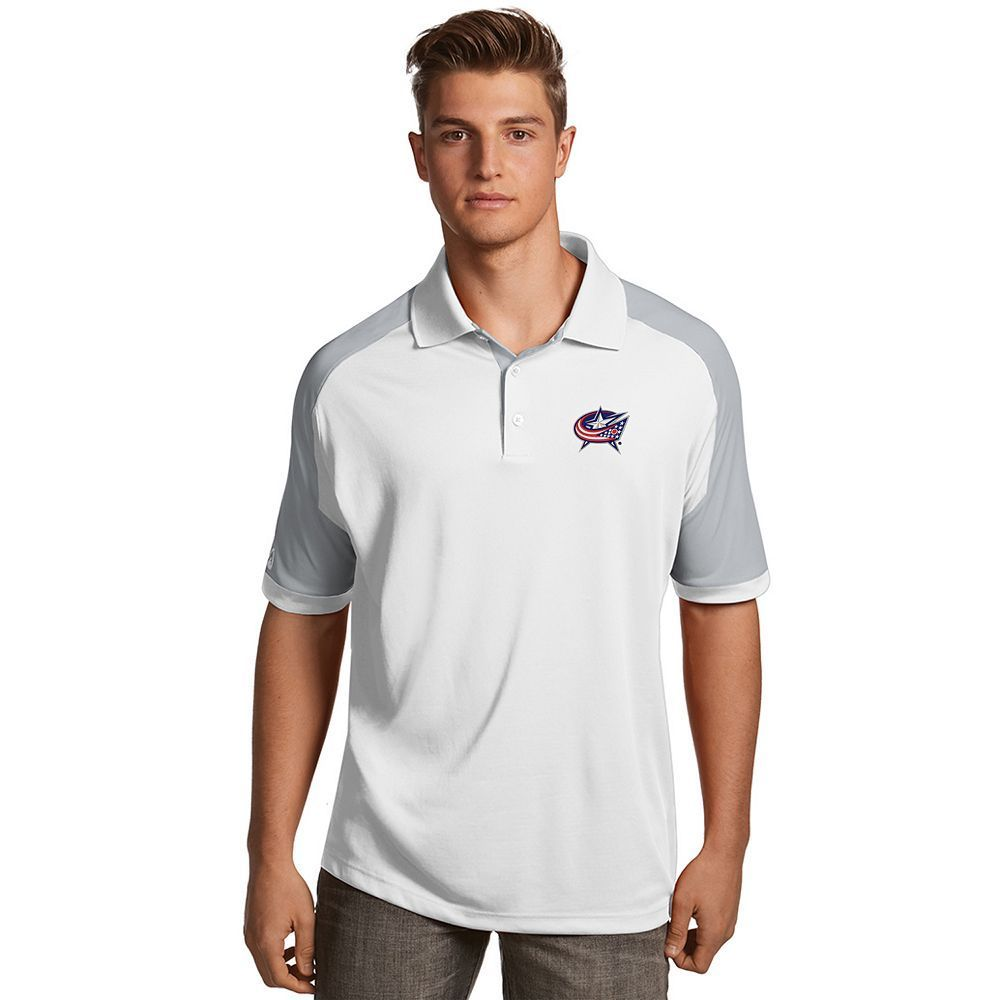 Men's Antigua Columbus Blue Jackets Century Polo, Size: Medium, White