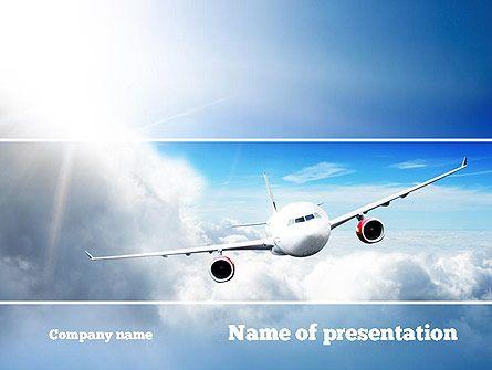 HttpWwwPptstarComPowerpointTemplateSkyPlane Sky Plane