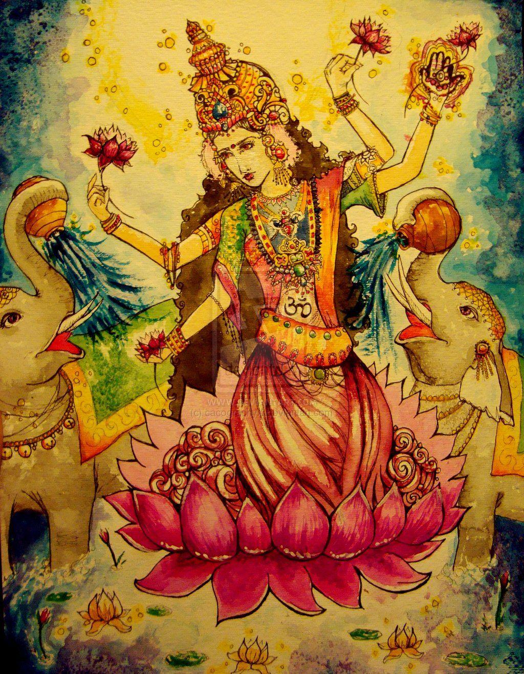 Kamat's Potpourri: Deity Laxmi in Mysore School of Art