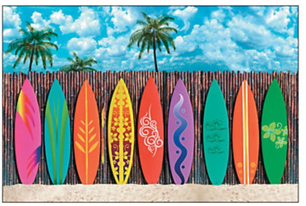Details About 9 Ft Color Beach Hut Cabana Plastic Wall Mural
