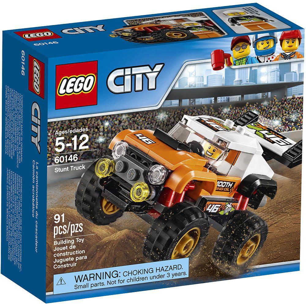 Lego City 60146 Stunt Truck Set New Sealed 91pcs Ages 5 Monster Truck Toy Lego Lego City Monster Truck Toys Lego City Sets