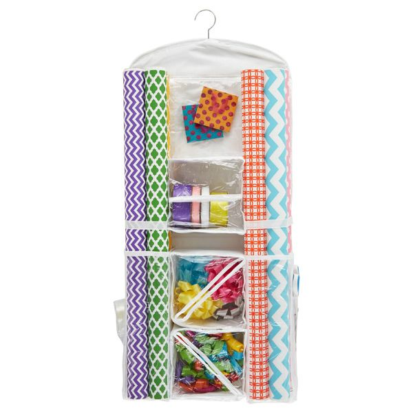 Hanging Gift Wrap Organizer Gift Wrap Organization Wrapping Paper Storage Gift Wrapping Station