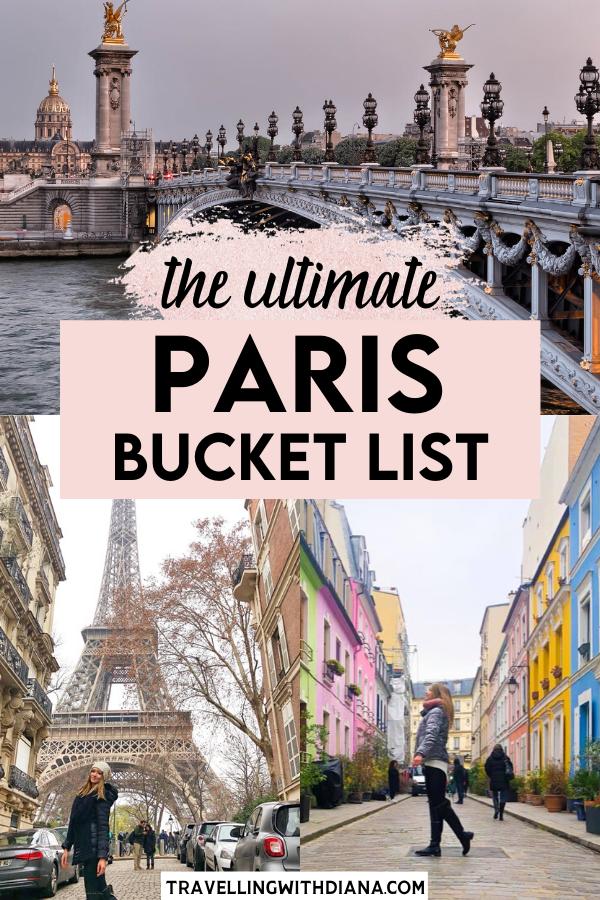 The Ultimate Paris Bucket List