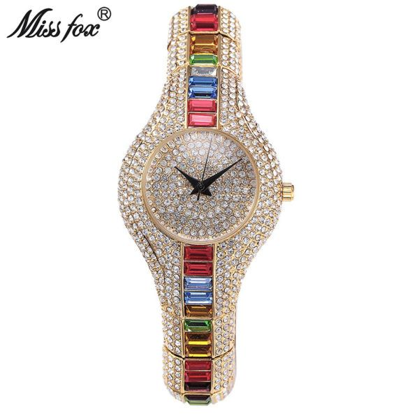 Miss Fox Austria Crystal Women Watches Luxury Ladies Gold Watch 2017 Shockproof Waterproof Small Women's Watch For Female Clock – STOP & SHOP