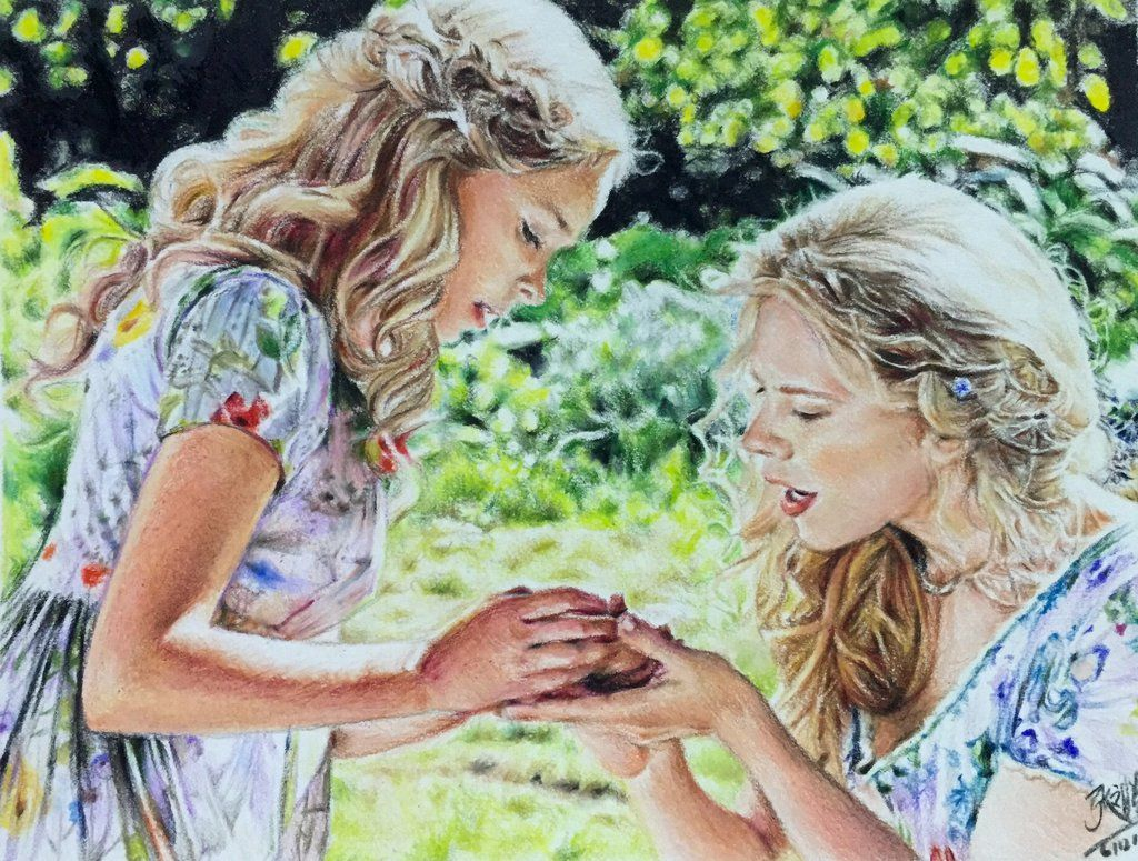 Colour pencil drawing of a scene fr Cinderella by ...
