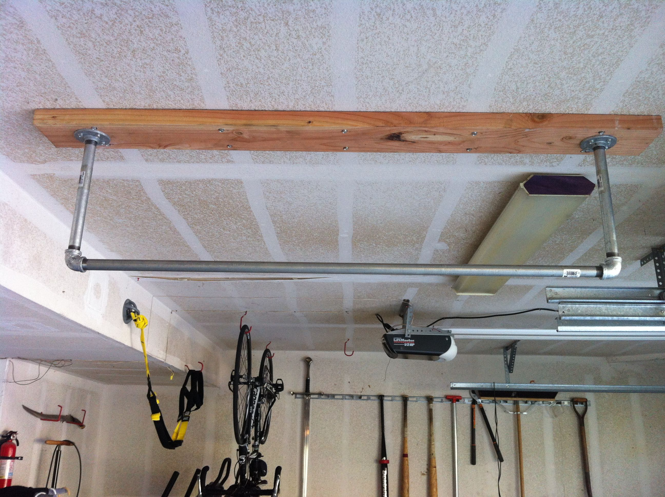 Home Made Pull Up Bar Garage Pull Up Bar Home Gym Diy Pull Up Bar