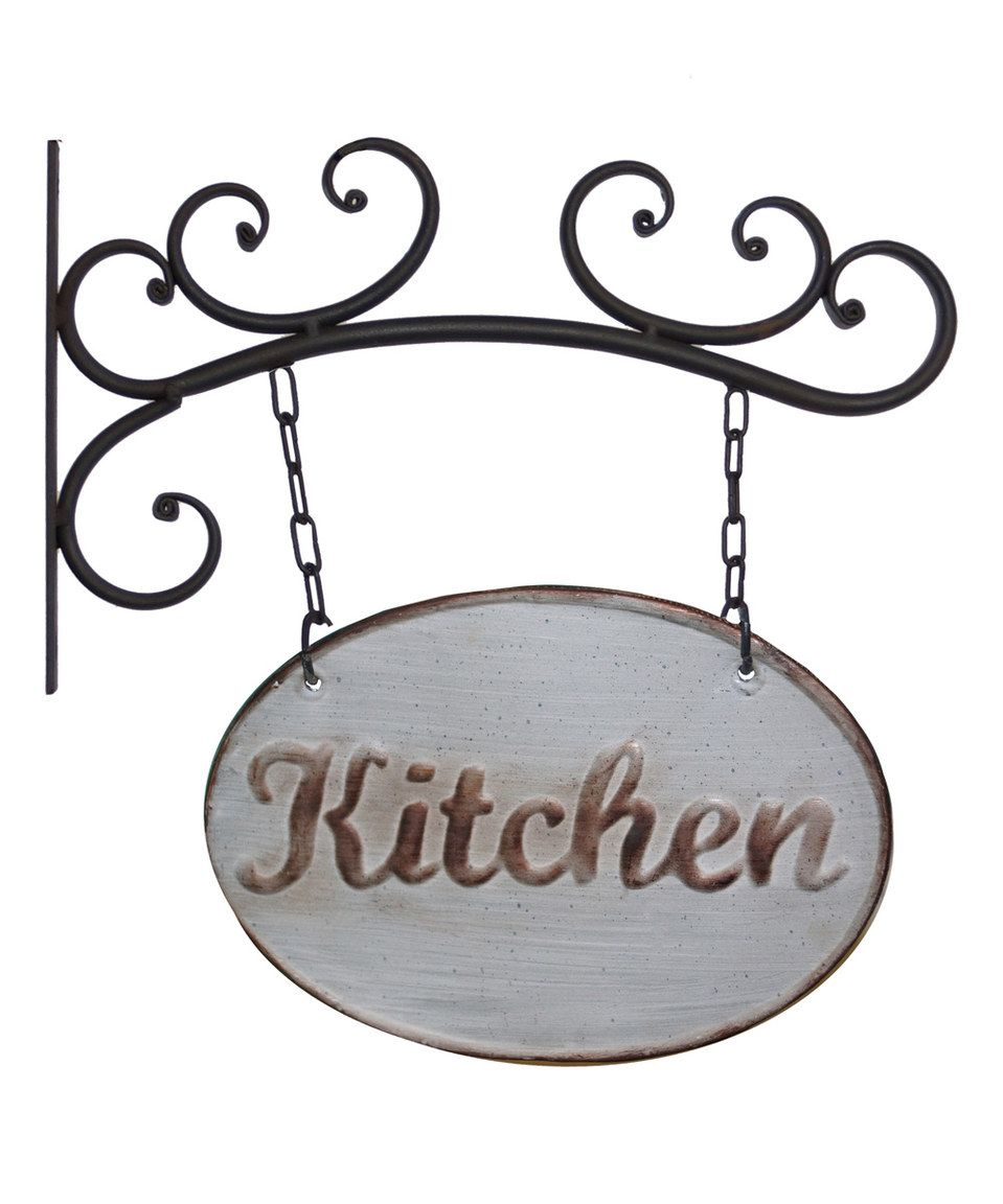 Love this Black Metal \'Kitchen\' Sign by VIP International on #zulily ...