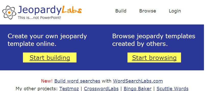 Super Cool Jeopardy Games Many Pre Made Ones You Can Use In The