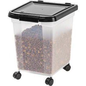 Rolling pet food storage! Airtight seal keeps out moisture