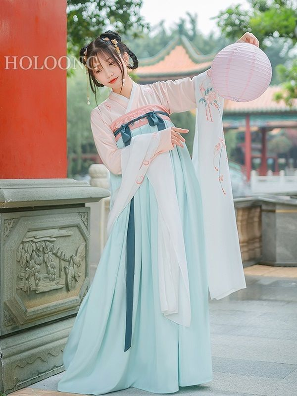 Orient asian clothes Crossed collars Women Hanfu Dresses | Art of ...