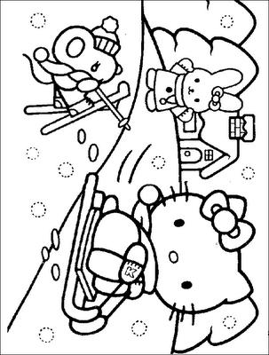 HELLO KITTY COLORING PAGES   hobby   Pinterest   Páginas para ...