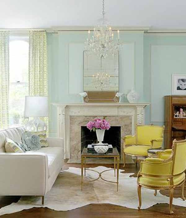 awesome light green living room curtains   green patterned curtains with blue walls.   Living room ...