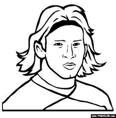 Lionel messi online coloring page kids print and color - Coloriage lionel messi ...