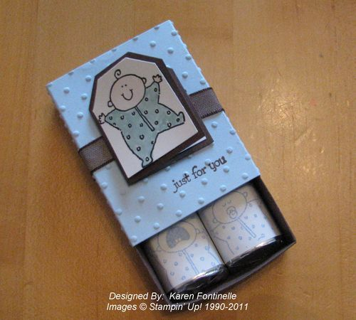 Baby Shower Favor Box with Chocolatees