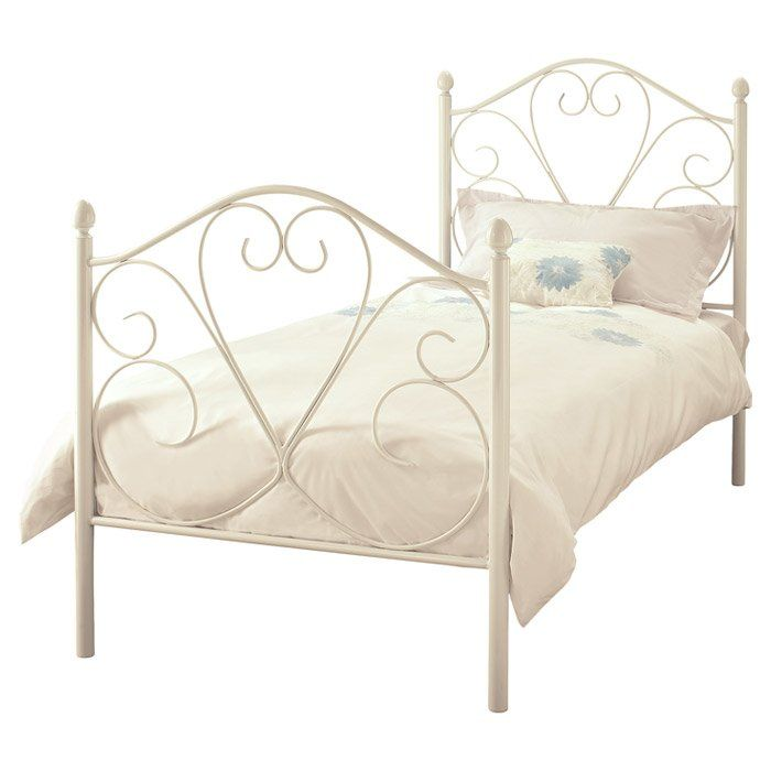 35b19a4abb10 Raven Bed in 2019 | sheenah | Metal beds, White metal bed, Bed frame