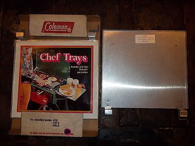 Coleman Chef Trays Set of 2 Camp Stove Models 425E 413G 426D New Old Stock Vtg | eBay