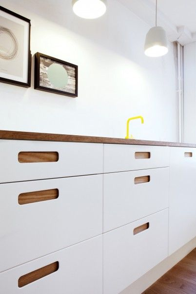 Ikea hack: the Basis 02 kitchen from Reform made with Ikea cabinets and Reform's fronts and counters | Remodelista