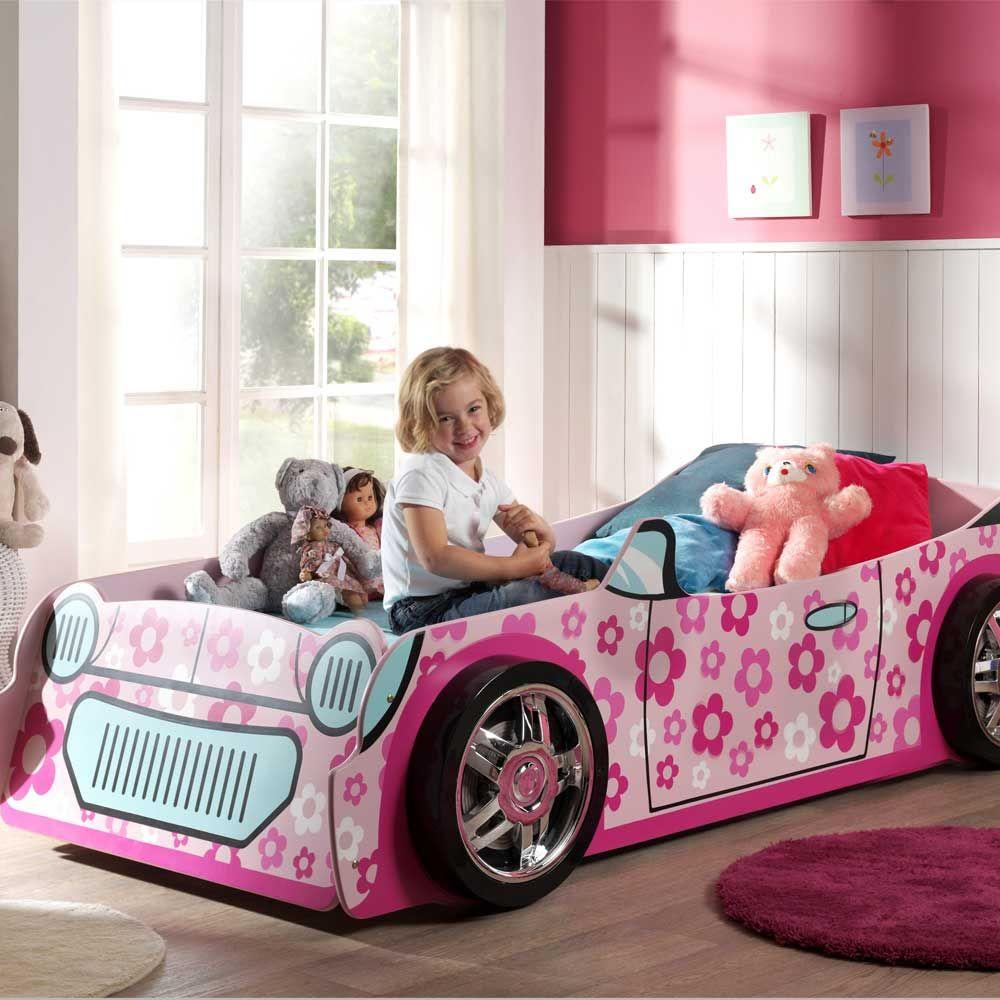 Kinder Autobett für Mädchen Rosa Pink Jetzt bestellen unter: https ...