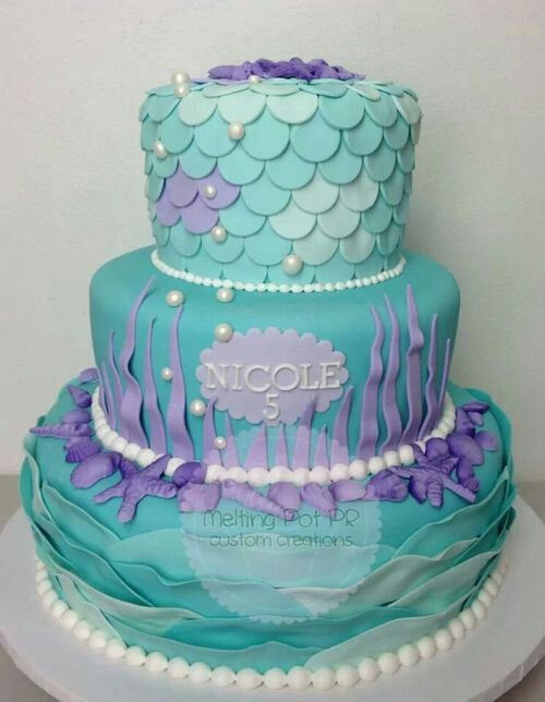 Little mermaid birthday cake Food Pinterest Mermaid birthday