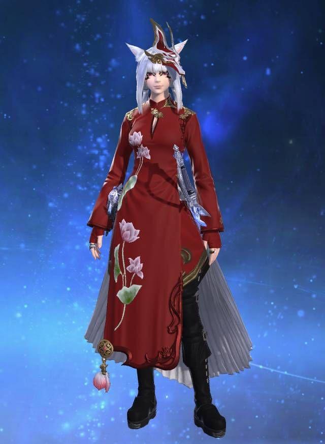 ffxiv ạ́o ̣đài female | Ao Dai | Ff14, Dresses, Fashion