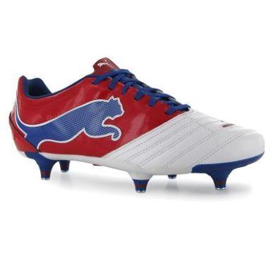 Mens Puma Football Football Boots Boots Powercat 3 12 Sg All Mens White Red