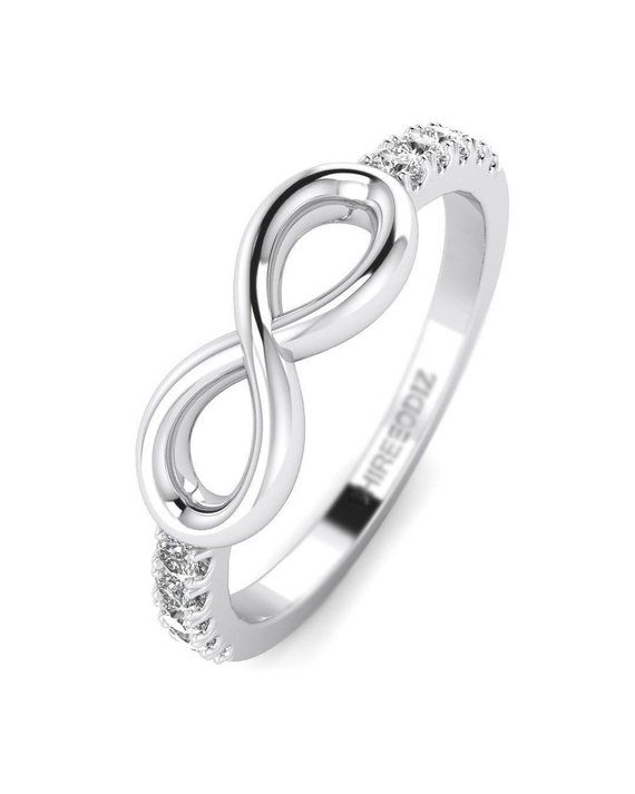 16df962031 14K White Gold Diamond Promise Ring For Her - Infinity | Products ...