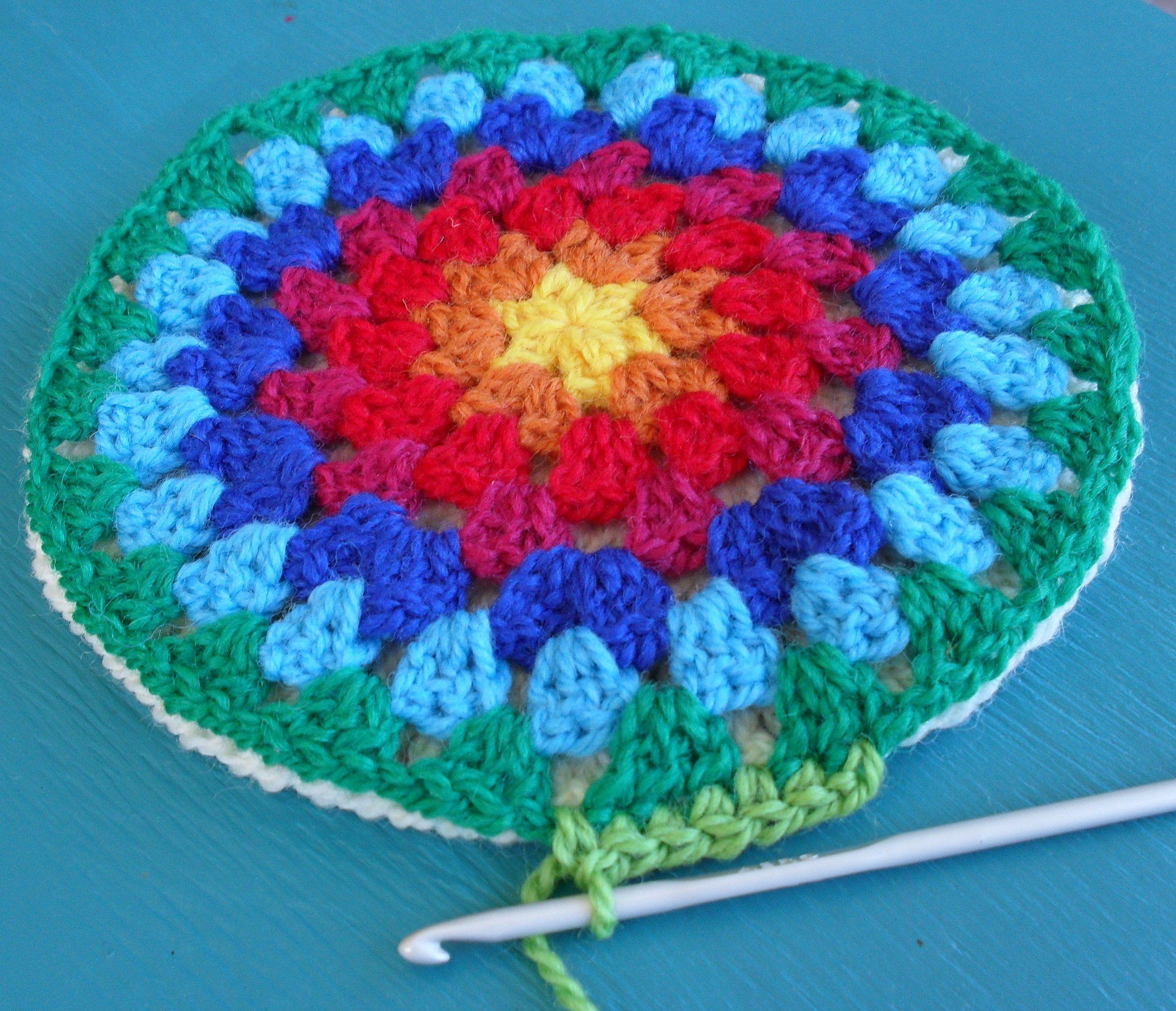 Double Crochet Round Potholder Pattern | Pot holder crochet patterns ...