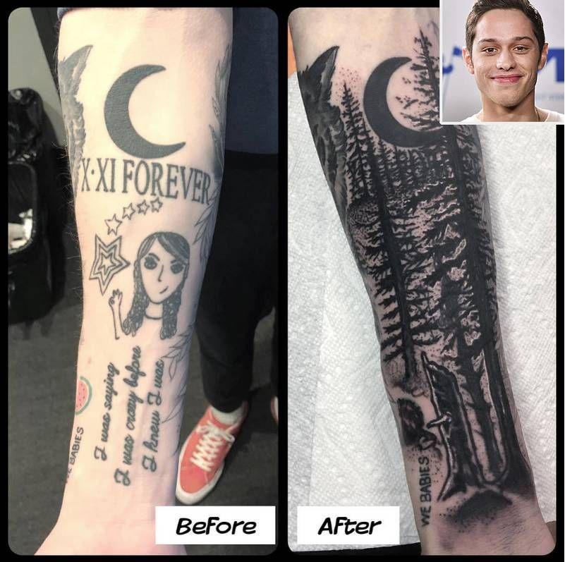 Pete Davidson Covered Tattoo of ExGirlfriend Cazzie David