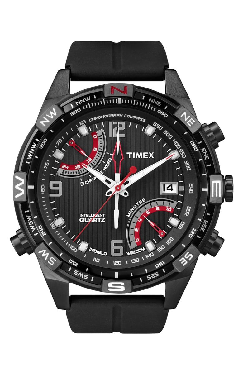 Free shipping and returns on Timex®  Intelligent Quartz  Flyback Chronograph  Compass Watch at 855d72509e