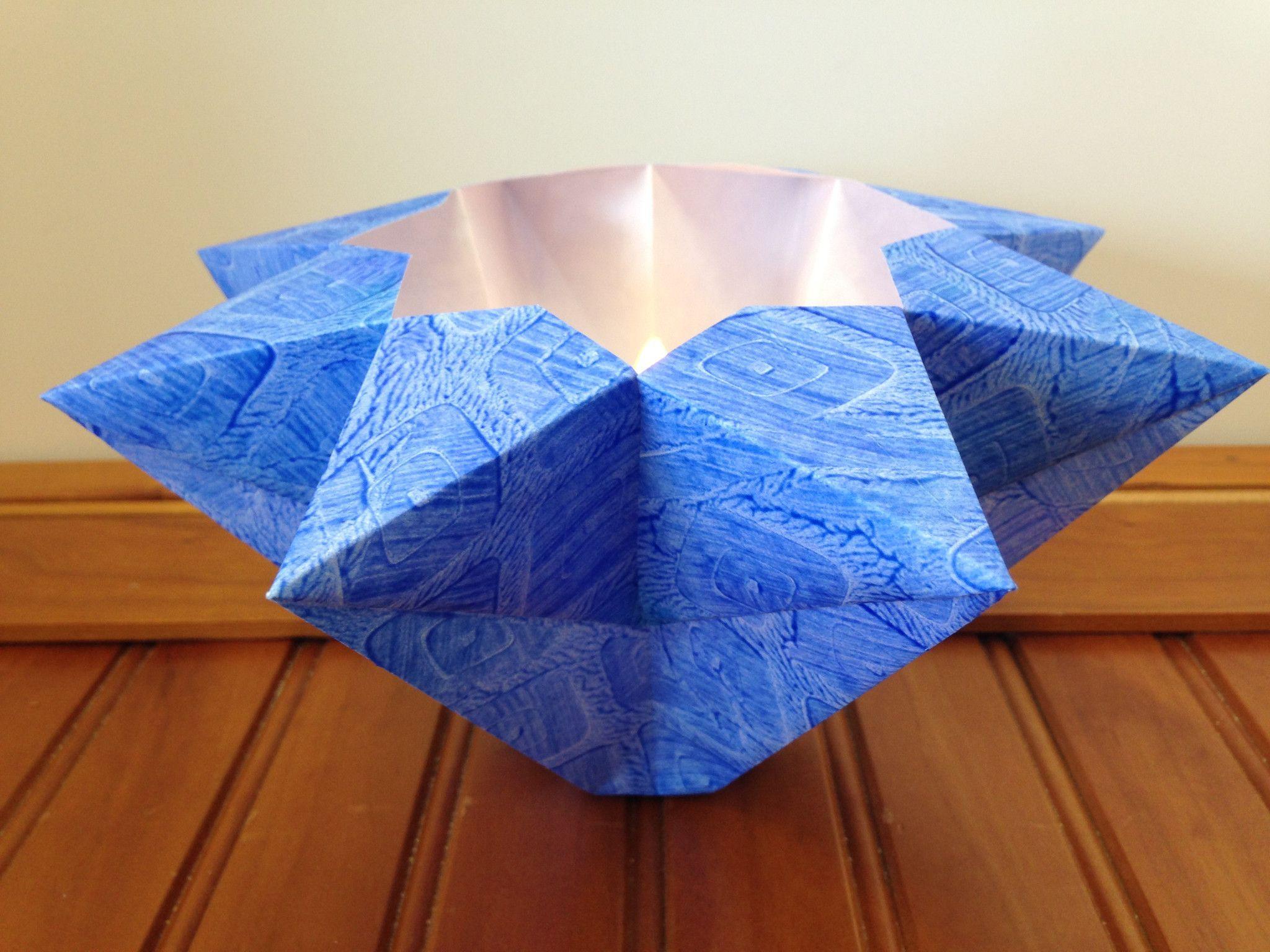 Ballast Island Blue Large Paste Paper Luminary