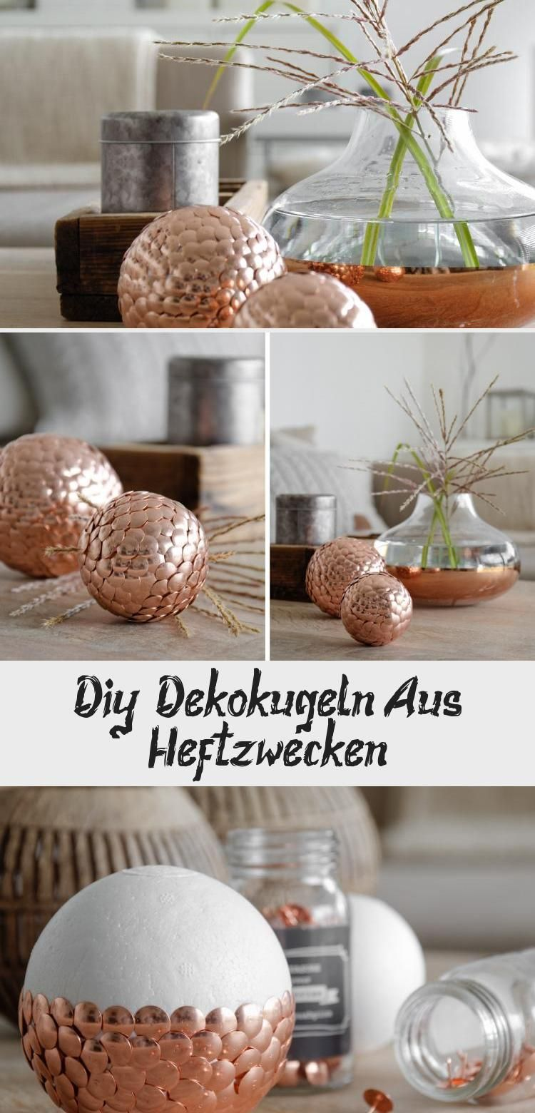 DIY | Dekorative Kugeln aus Reißnägeln mxliving #crafts ideasvideos #crafts …