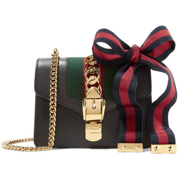 ac264fe853dfd Gucci Sylvie mini chain-embellished leather shoulder bag (82