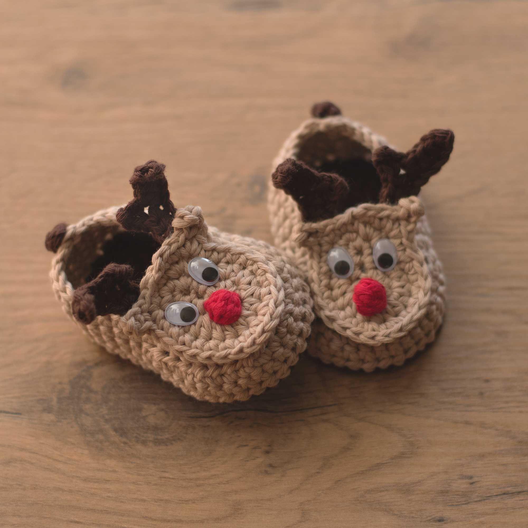 Oh Deer - patrón de los botines del bebé del ganchillo del reno por ...