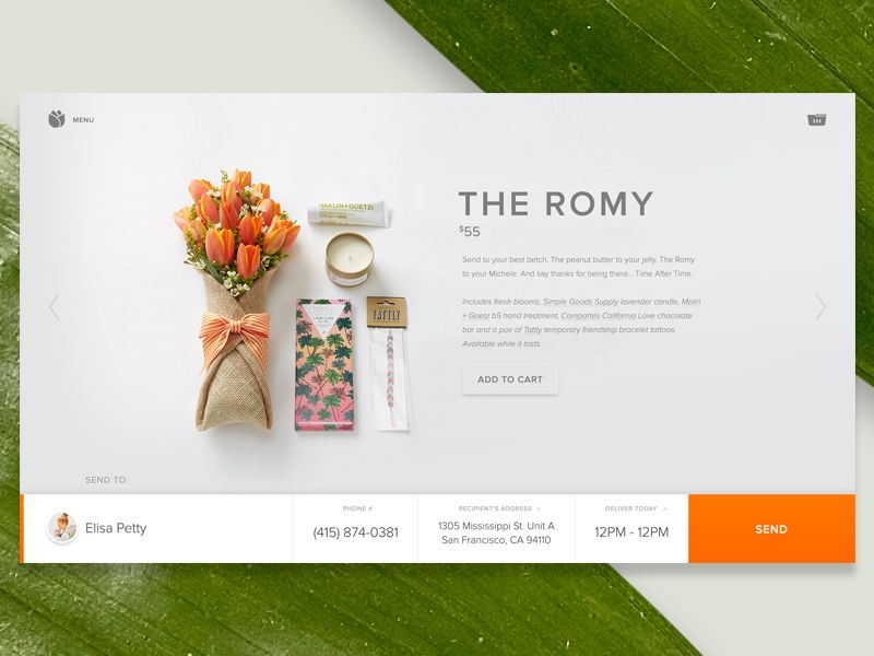 Bloomthat u product page weblayout inspirationen